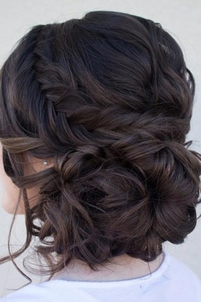 Braided low bun Hairstyles 2015