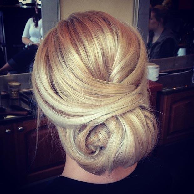Elegant low bun Hairstyles 2015
