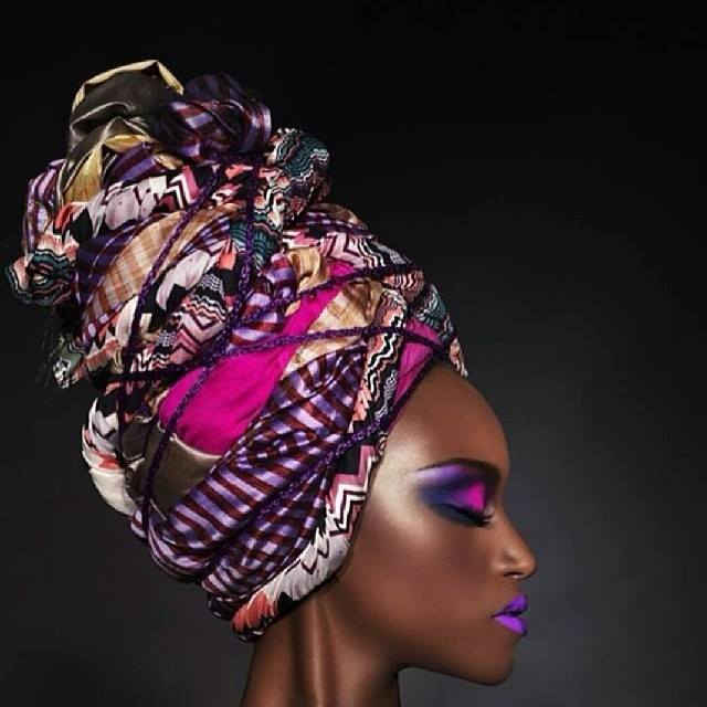 Violet african head wrap hairstyles 2015