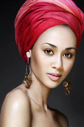 One-color african head wrap hairstyles 2015