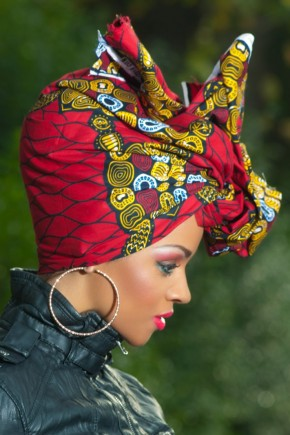 Red african head wrap hairstyles 2015