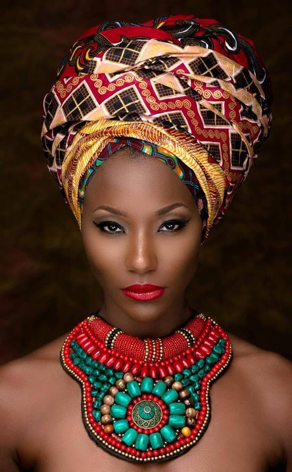 Elegant african head wrap hairstyles 2015