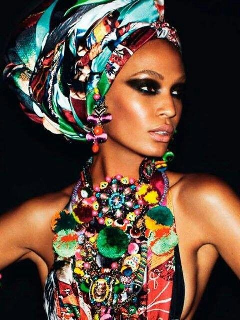 Colorful african head wrap hairstyles 2015