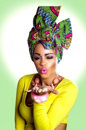 Green african head wrap hairstyles 2015