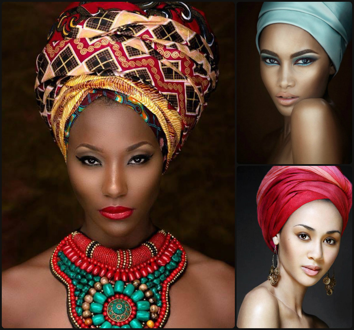 Modern African Hairstyles 2015 Head Wraps Long Hairstyles