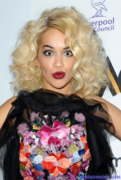 Rita Ora Short curly hairstyles