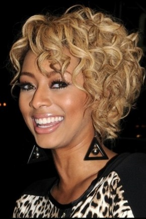 Ciara Short curly hairstyles fall 2015