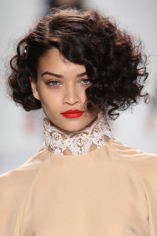 Runway Short curly hairstyles