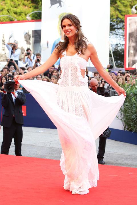 Alessandra Ambrosio Venice Film Festival 2015 Hairstyles