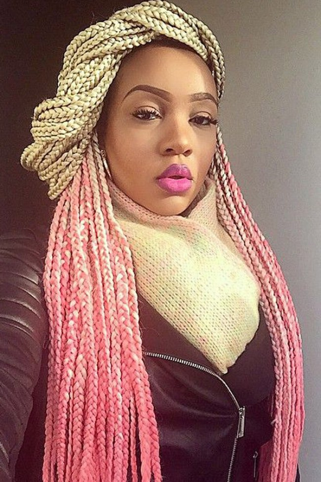 Awesome Blonde Box Braids With Black Hair Braids Short Hairstyles For Black Women Fulllsitofus