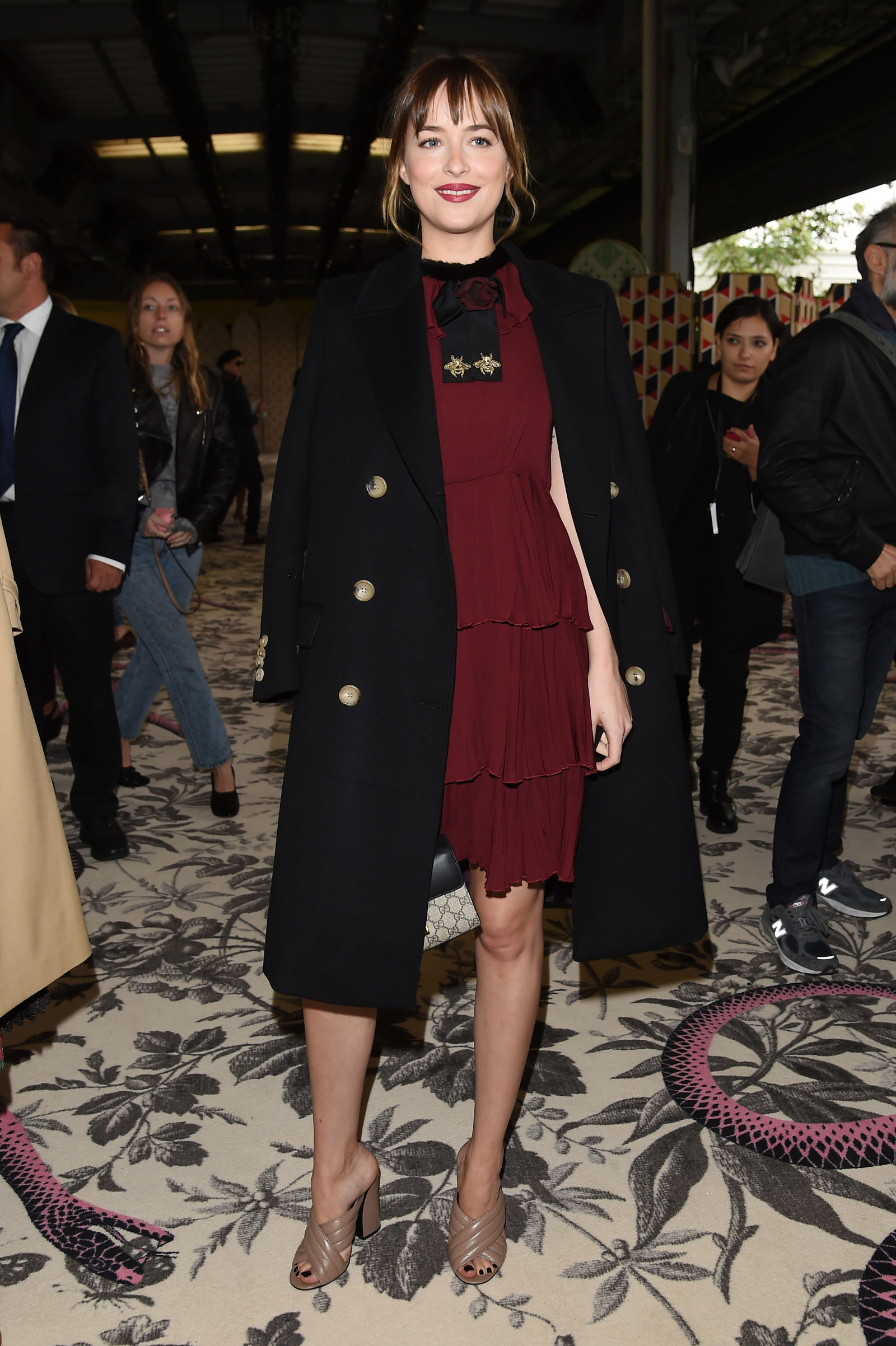 Dakota Johnson hairstyles 2016 at Gucci