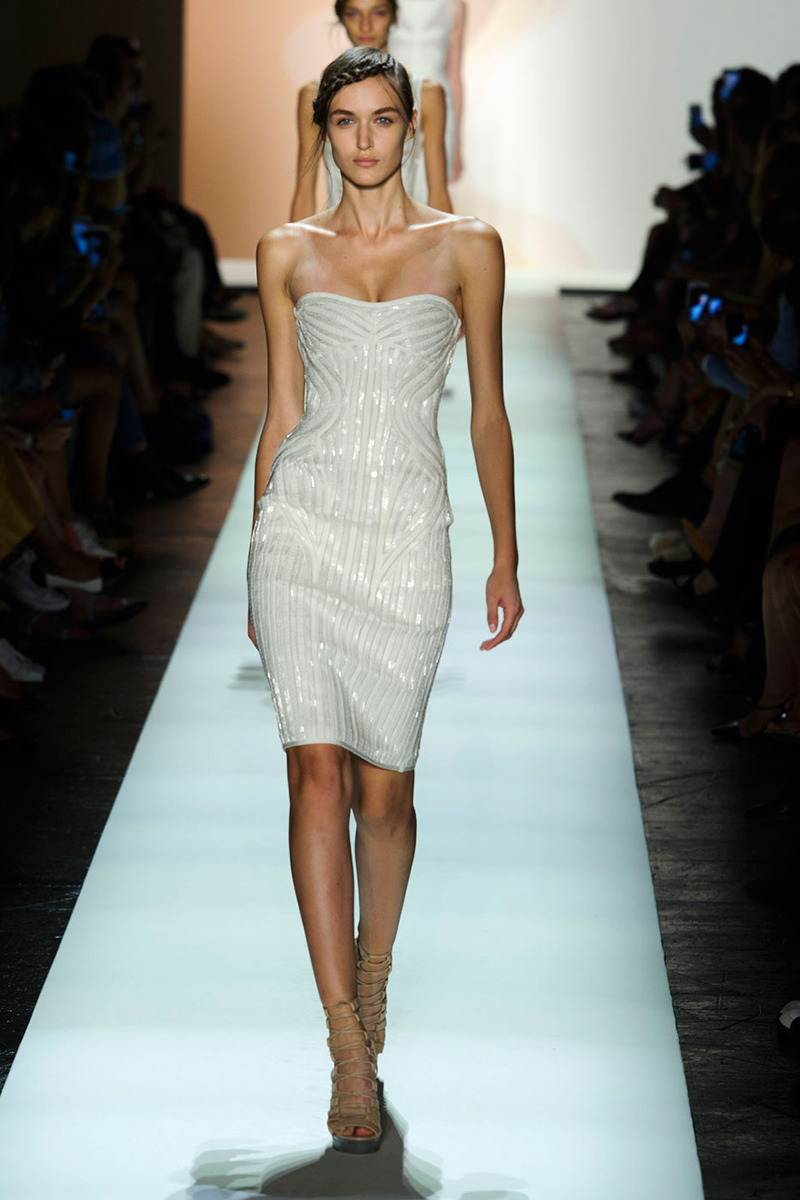 HERVE LEGER wedding hairstyles 2016
