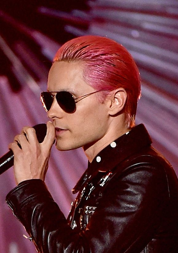 Jared Leto Celebrity Hairstyles VMAs 2015