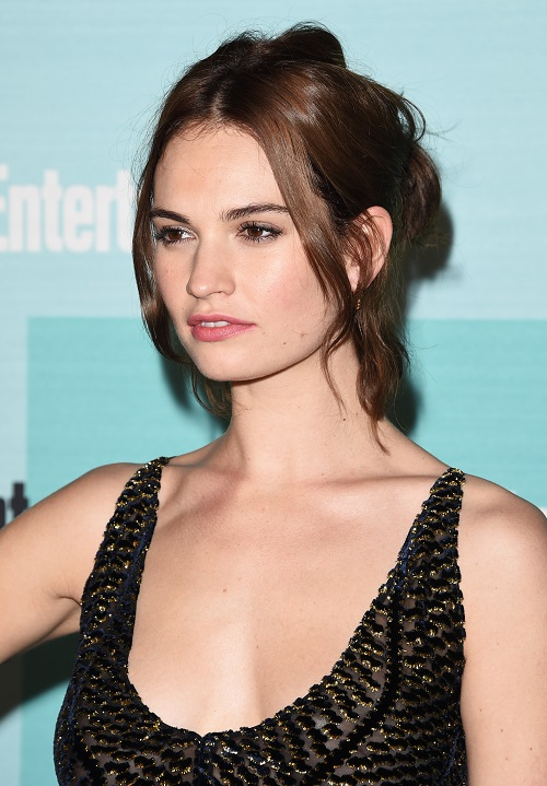 Lily James Hair Colors 2016