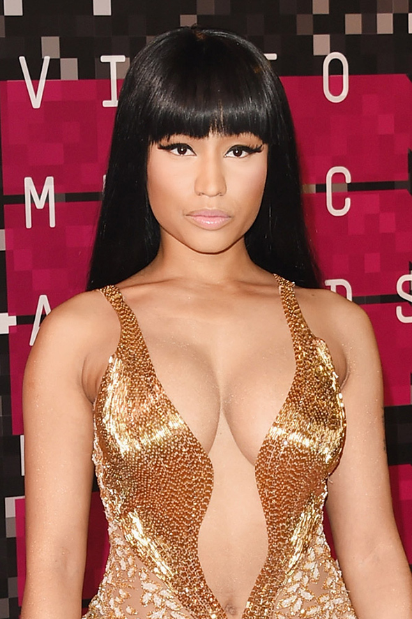 Nicki Minaj Celebrity Hairstyles VMAs 2015