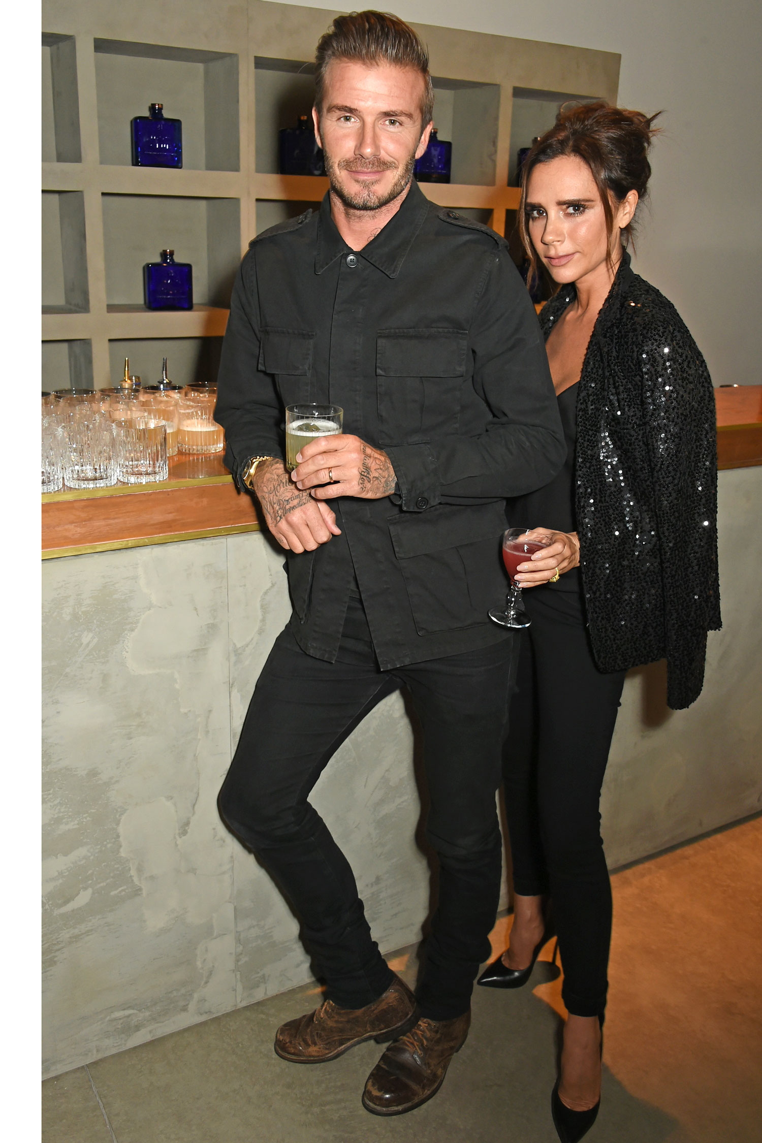 David and Victoria Beckham celebrity hairstyles 2016
