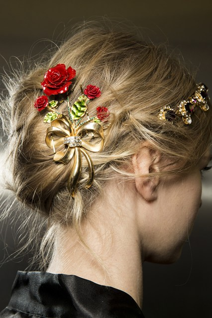Jewel hair accessories and Winter 2016 Hairstyles