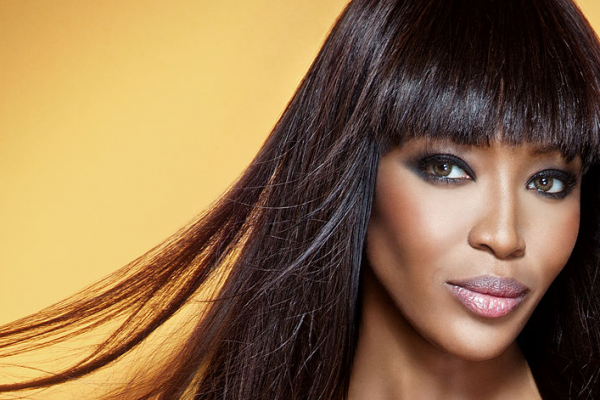 Naomi Campbell long straight hairstyles for 2016