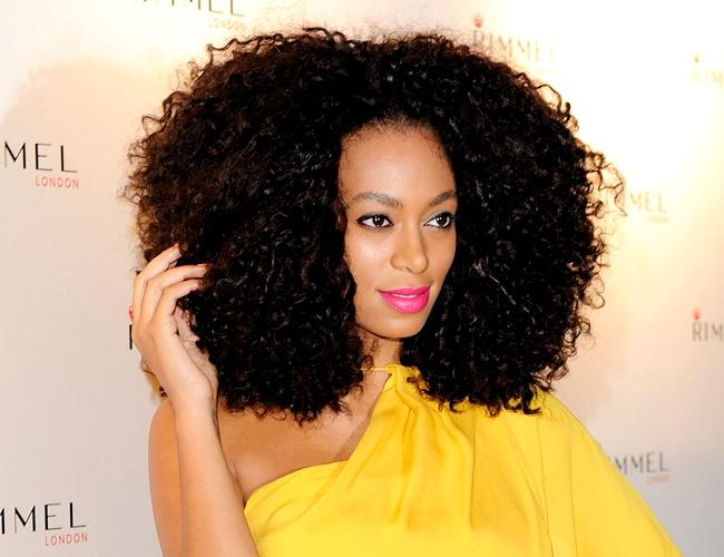Solange afro hair