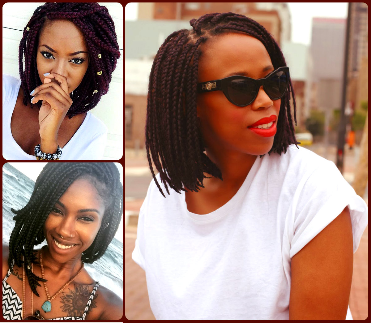 Bob short box braids
