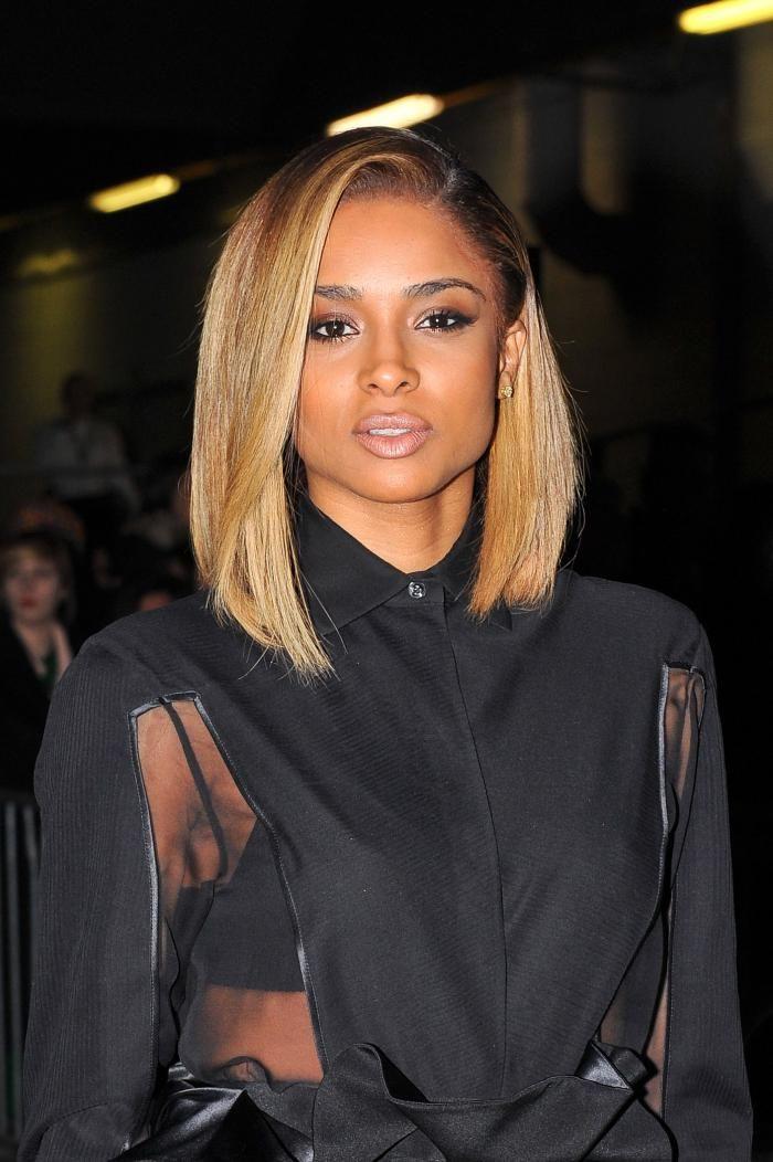 Ciara Straight Bob Hairstyles for black women