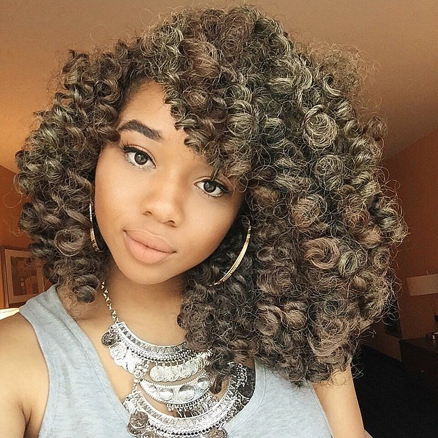 crochet braids for black women with highlights