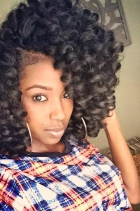 big curls and crochet braids for black women