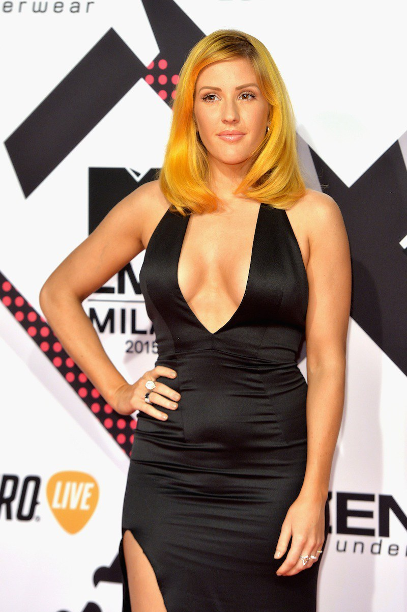 Ellie Goulding celebrity hairstyles from EMAs 2015