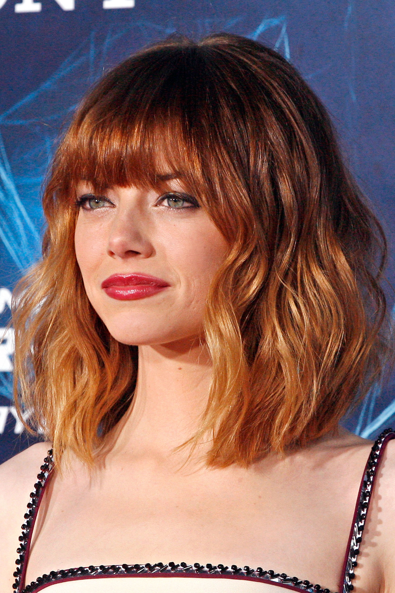Emma Stone red hair colors 2016