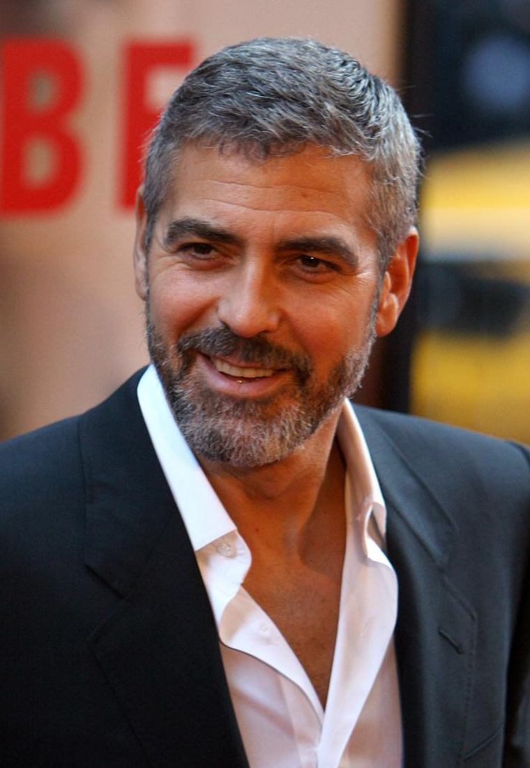 George Clooney Mens Hairstyles for 2016