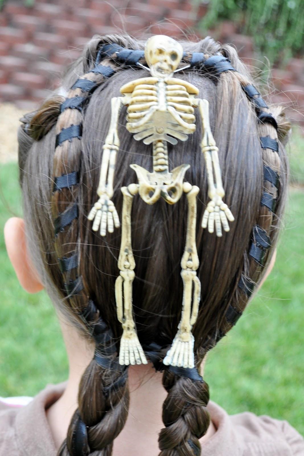 Skeleton Halloween Hairstyles for kids