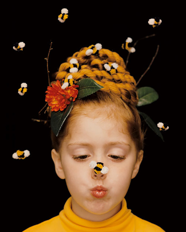 Halloween Hairstyles for kids with bees