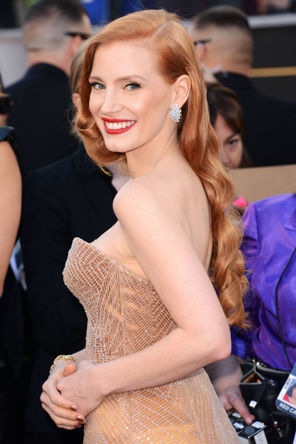 Jessica Chastain red hair colors 2016