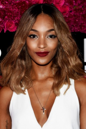 Jourdann Dunn caramel brown hair colors