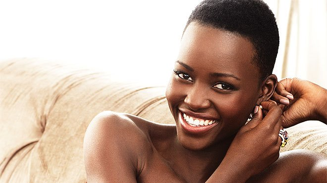 Lupita Nyong'o short natural black women hairstyles