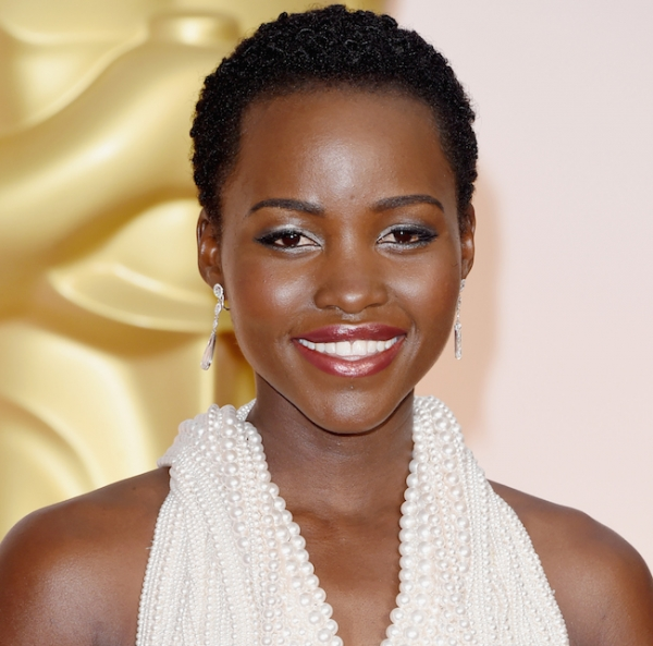 Lupita Nyong'o short curly natural black women hairstyles