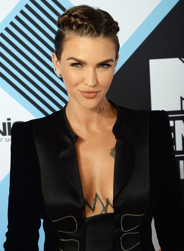 Ruby Rose celebrity hairstyles from EMAs 2015