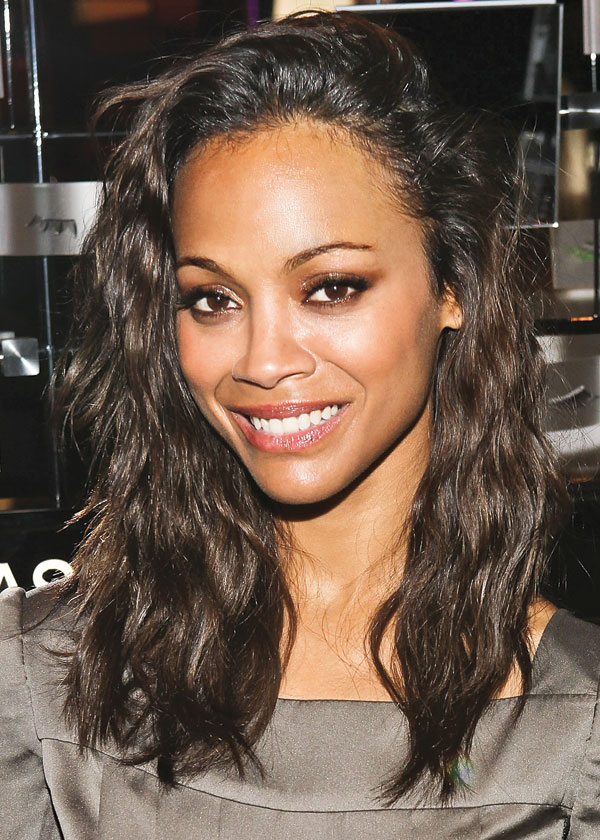 Zoe Saldana medium hairstyles for black women