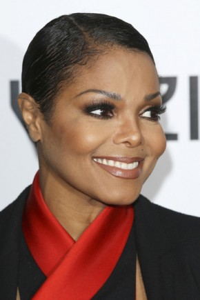 Janet Jackson smooth short black hairstyles