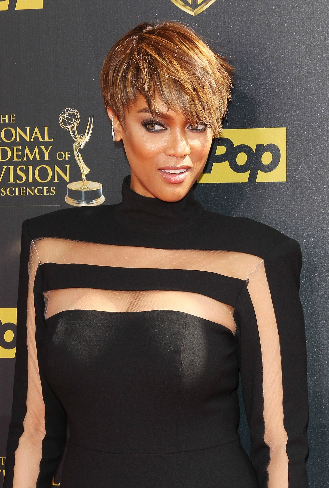 Tyra Banks short pixie for black women