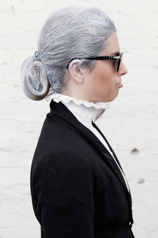 grey Halloween Hairstyles