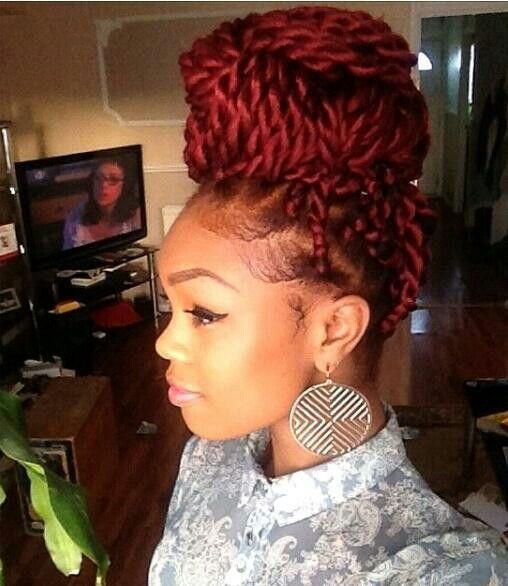 Havana twists bun hairstyles for black women