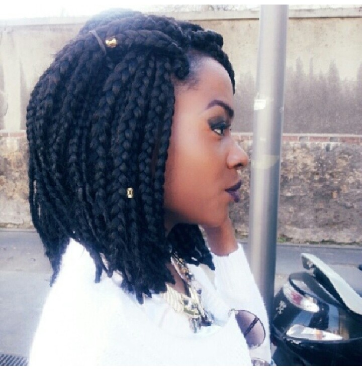 short big box braids hairstyles