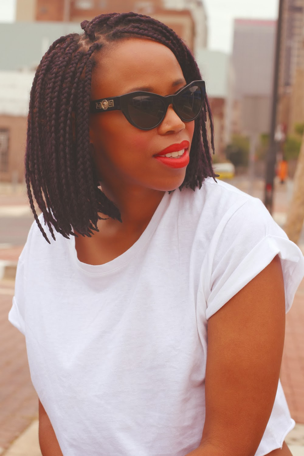 stylish short box braids
