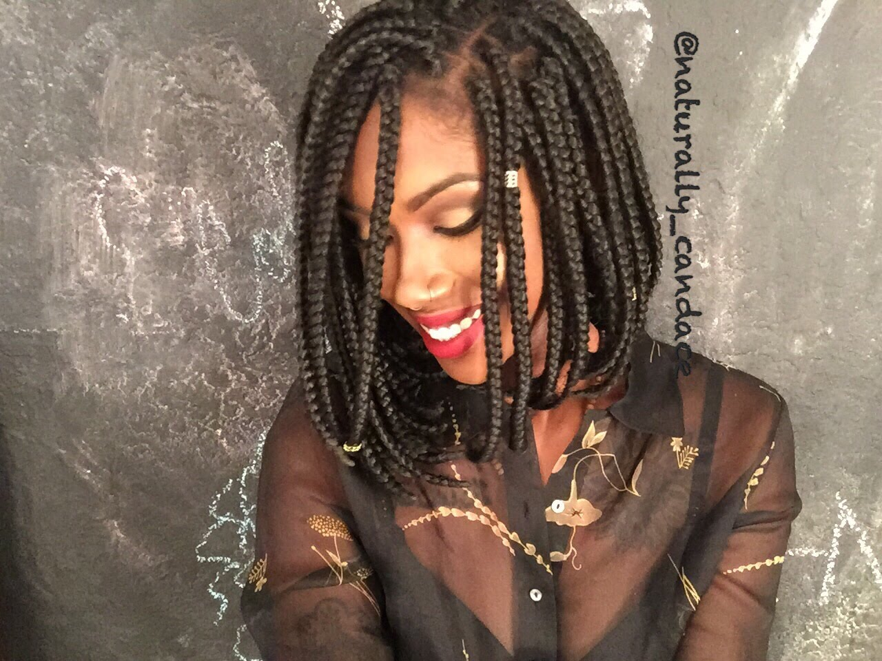 black short box braids