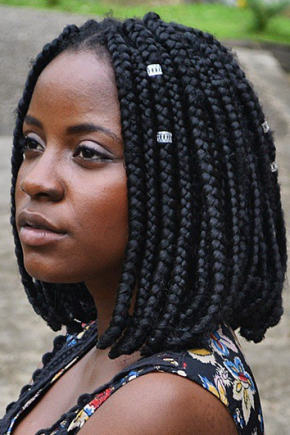 simple bob from short box braids