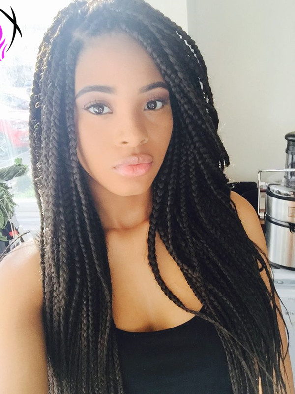 long hairstyles with small box braids