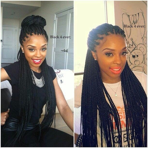 versatile long hairstyles with small box braids