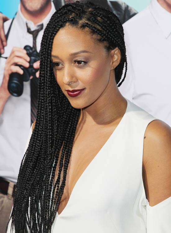 elegant long hairstyles with small box braids