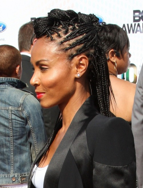 updo from small box braids hairstyles